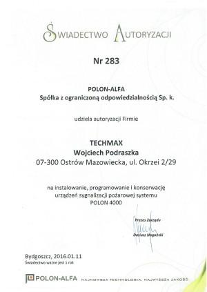 Autoryzacja POLON-ALFA - system POLON 4000
