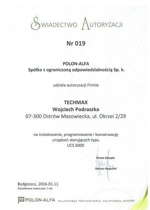 Autoryzacja POLON-ALFA - urządzenia UCS 6000