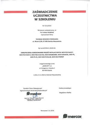 MERCOR - zabezpieczenia ogniochronne przejść instalacyjnych