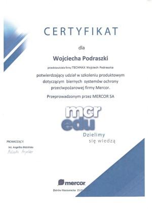 MERCOR - szkolelenie dotyczące biernych systemów ochrony ppoż.