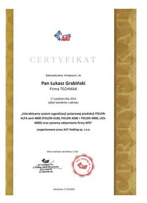 POLON - certyfikat