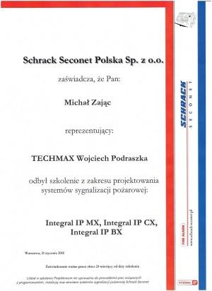 Schrack Seconet - szkolenie z zakresu projektowania systemów sygnalizacji pożarowej